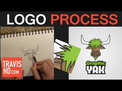 Logo Creation Process from Sketch to Vector