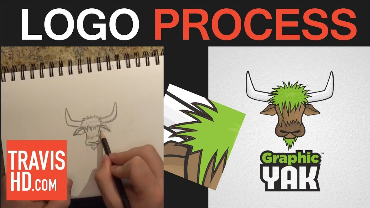 logo creation process from sketch to vector youtube