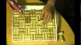 How To Make A Serving Tray With Wine Corks