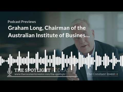 Graham Long, Institute of Business Brokers - Interviewed By Alan Kohler - The Constant Investor