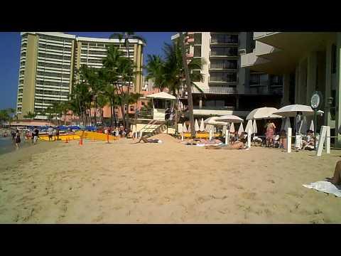 Waikiki Beach Behind the Moana Surfrider Hotel in Oahu