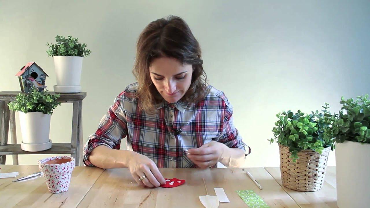 Tutorial decora y personaliza tus macetas youtube for Cosas para decorar el hogar