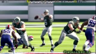Mark Sanchez Touchdown To Rookie Stephen Hill - Week 1 Against Buffalo Bills - NFL Season 2012 - HD