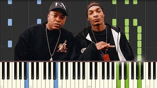 Still D R E Dr Dre featuring Snoop Dogg Piano Tutorial Synthesia