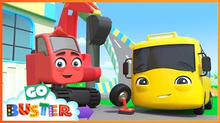A Very Windy Day - Where is the Toy Car | Go Buster | Baby Cartoons | Kids Videos | ABCs and 123s