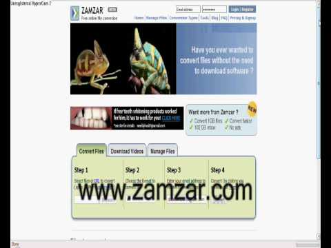 Zamzar free online video converterno download youtube ccuart Gallery