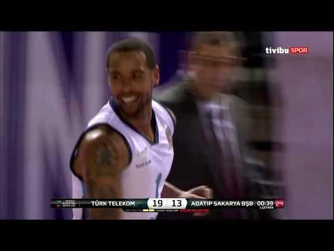 Maç Özeti:Türk Telekom - Adatıp Sakarya Bşb Basketbol
