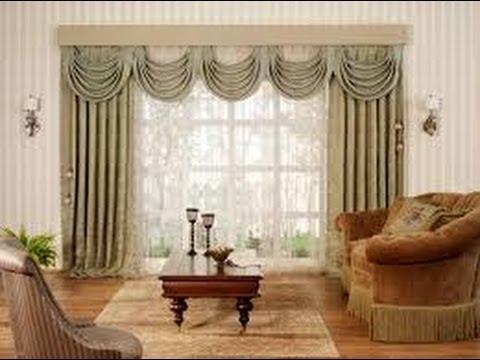 Como hacer cortinas elegantes para salas 1 youtube - Decorar muebles con tela ...
