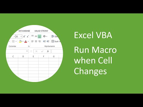 Excel VBA - How to Run Macro when Cell Changes