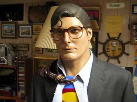 Christopher Reeve Superman Life Size 1 1 Bust Statue Youtube