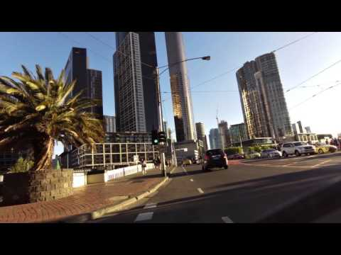Melbourne NGV to Southern Cross CBD unedited bike ride in real time