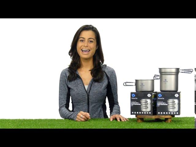 Product Video - FinessCity Titanium Camping Cookware Set 3-Piece