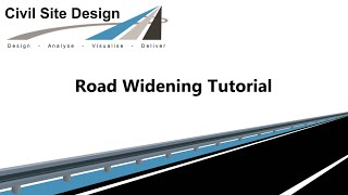 Civil Site Design - Tutorial - Road Widening