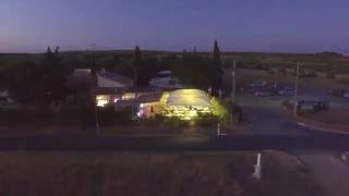 Camping Les Clairettes by Night (DJI Phantom 3 FPV) Adissan/Fontes, Languedoc-Roussillon, France