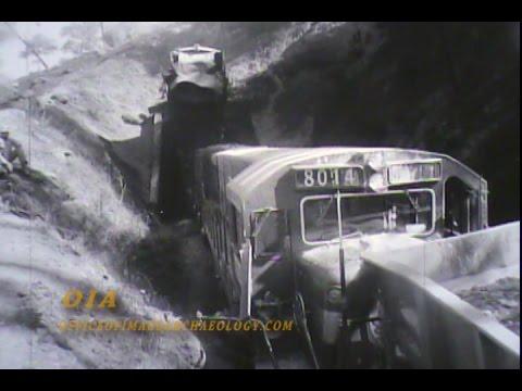 OROVILLE DAM 1964-65 CONSTRUCTION & TRAIN WRECK