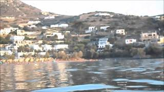 syros kini in sunset