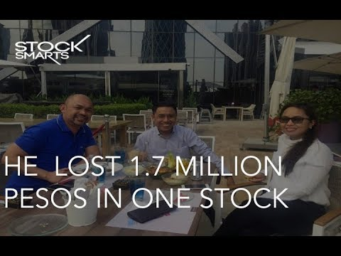 HE  LOST 1.7 MILLION PESOS IN ONE STOCK