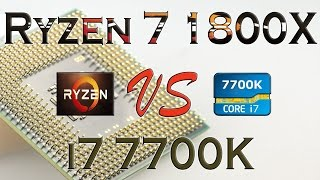 ryzen 7 1800x vs i7 7700k benchmarks gaming tests review and comparison ryzen vs kaby lake