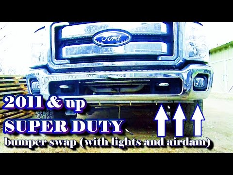 2011 & up SUPER DUTY bumper remove/replace (with lights and airdam swap)