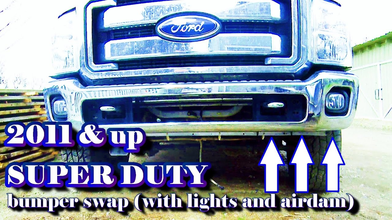2011 Up Super Duty Bumper Remove Replace With Lights And Airdam F 350 Factory Trailer Wiring Diagram Troubleshooting Light Swap