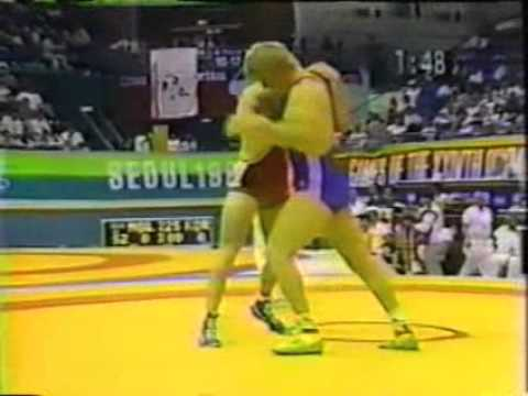 Freestyle Wrestling-Olympic Games 1988 Seoul - Bill Scherr(USA) vs Julius Strnisko(CSSR)
