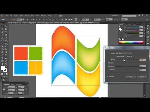 Easy Windows Logo Design Illustrator Tutorial I Graphics Design Tutorial thumbnail