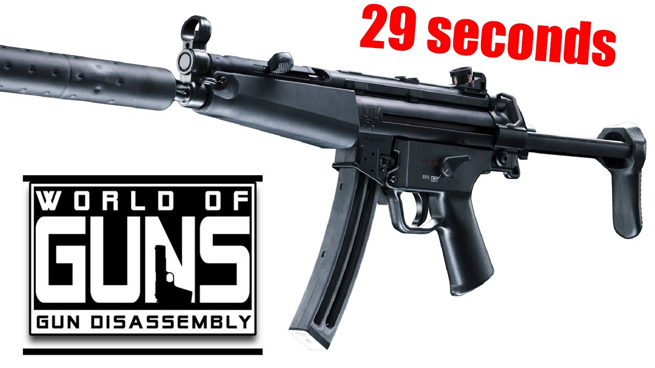World of Guns: Disassembly of MP5 - 70 parts in 29 sec (Hardcore)