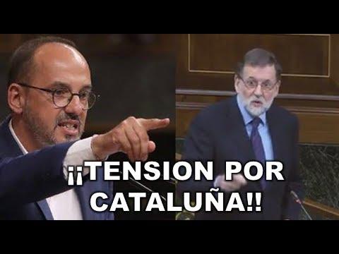 **ALTA TENSIÓN** entre MARIANO RAJOY y el DIPUTADO CATALÁN Campuzano por la SITUACIÓN DE CATALUÑA