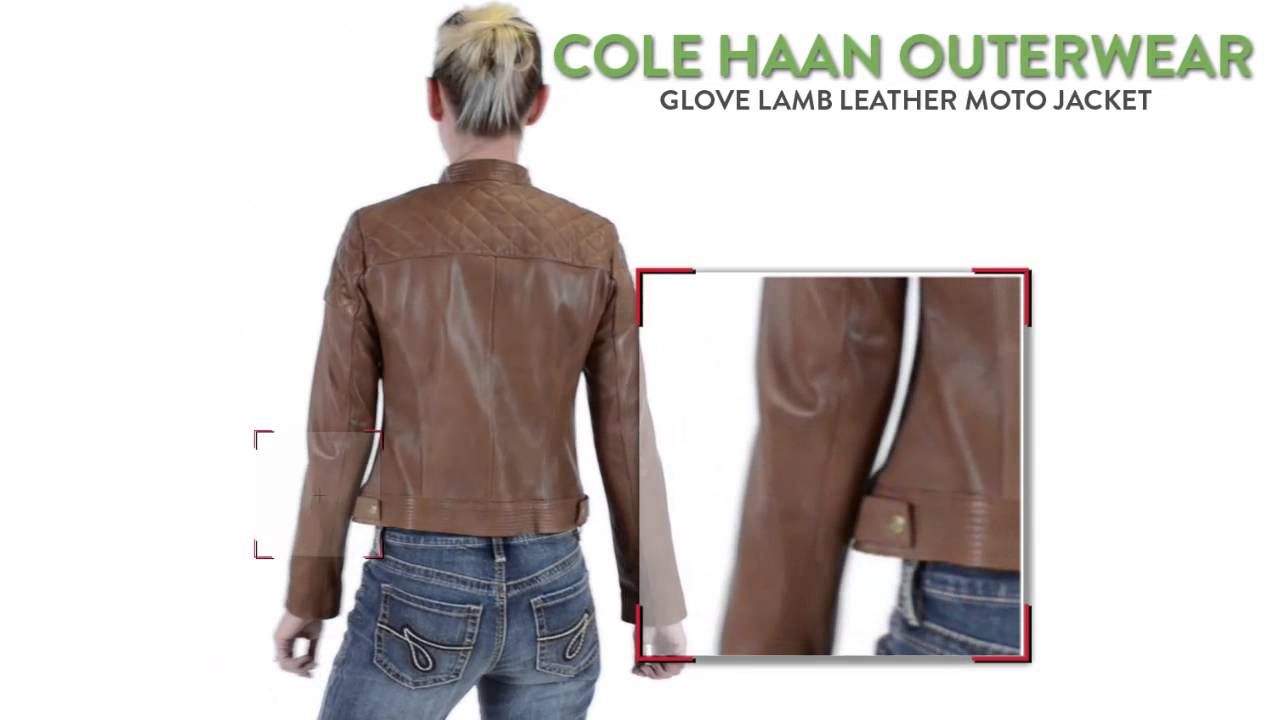 Cole Haan Outerwear Glove Lamb Leather Moto Jacket For Women Youtube