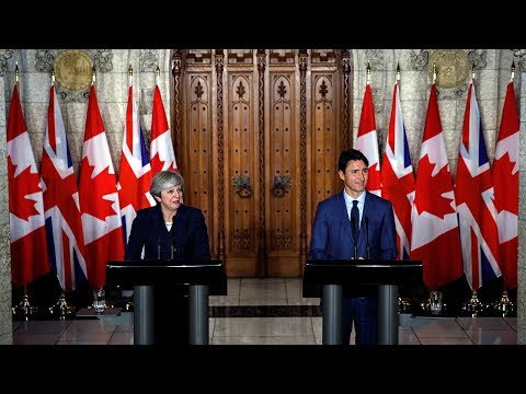 Prime Minister Trudeau and the Prime Minister of the U.K., Theresa May, deliver joint remarks