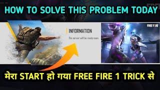 The Server Will Be Ready Soon Problem Free Fire || Why Not Open Free Fire Today || Raaj Gaming