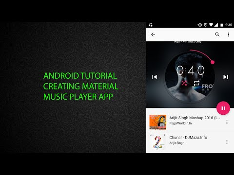 Android Tutorial | Creating Material Music Player App
