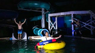 OVERNIGHT AT ABANDONED WATER PARK! (Almost caught!)