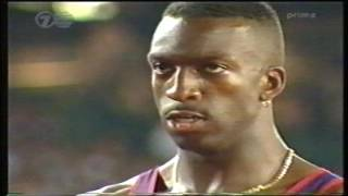 Michael Johnson Atlanta 1996 Gold 400m/200m