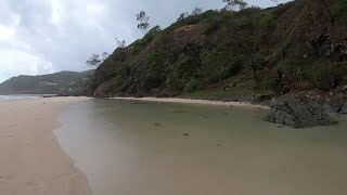 Download Sleep Aid Rain Sounds with Distant Thunder & Ocean Waves | Rainy Day at the Beach (Byron Bay) Mp3 and Videos