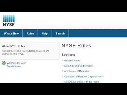 NYSE Listed Company Rules