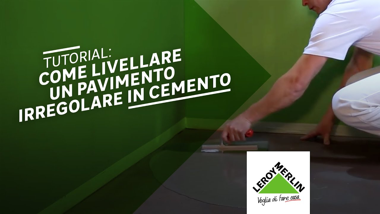 Come livellare un pavimento in cemento tutorial leroy for Pavimento wpc leroy merlin