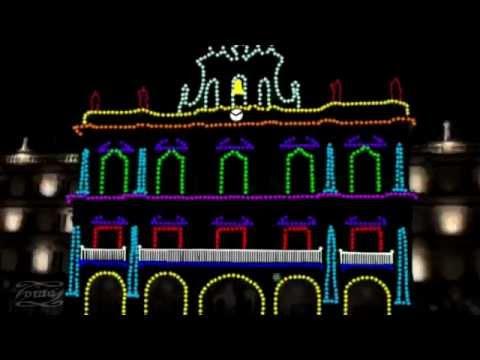 Espect culo de luces en la plaza mayor de salamanca - Luces de navidad ...