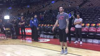 J.J.  Redick's Pre-Game Shooting Routine