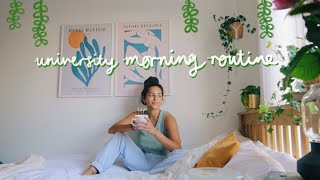 university morning routine ☁️