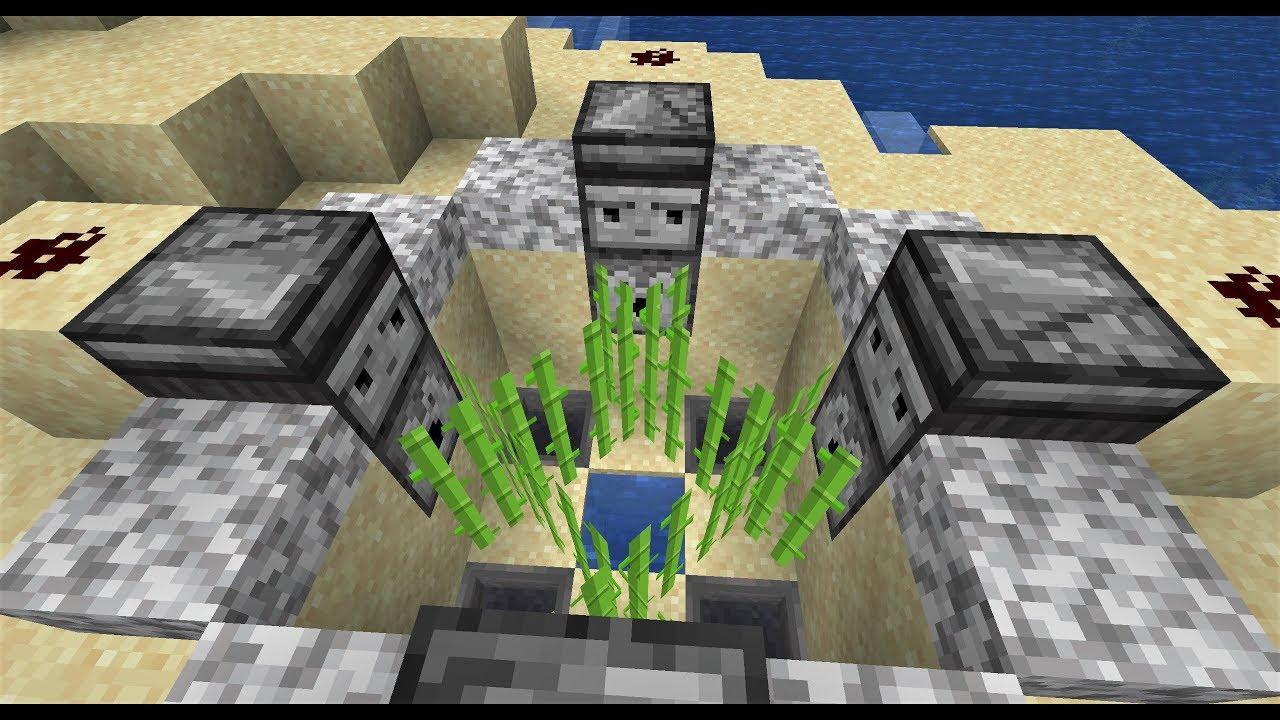 Ultimate Automatic Sugarcane Farm - Minecraft 1.14 - YouTube