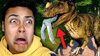 i let all my dinosaurs free just to see what would happen... (Jurassic World Evolution)