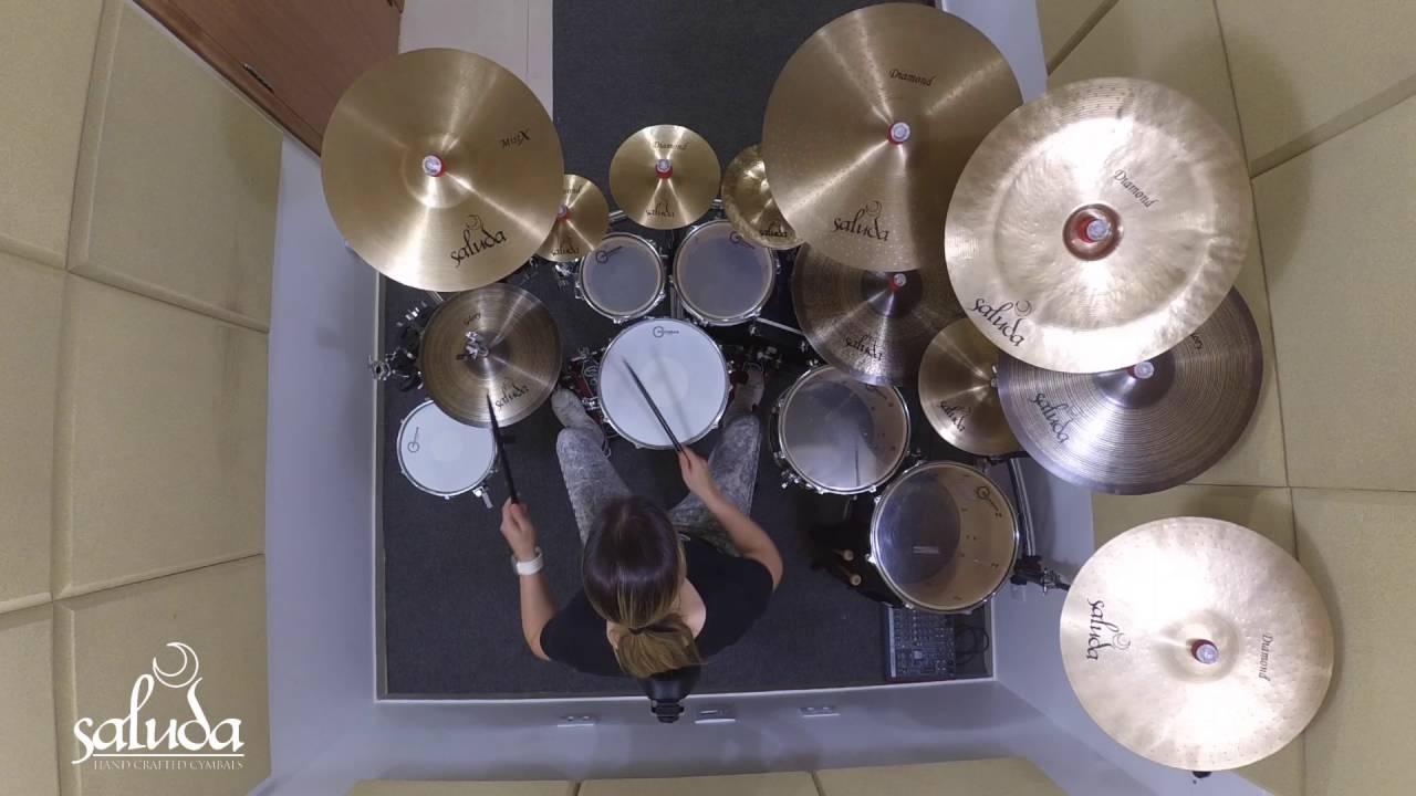 Abbraccia 2 Pack 10 Inch Brass Cymbal Hi-Hat Drum Cymbal