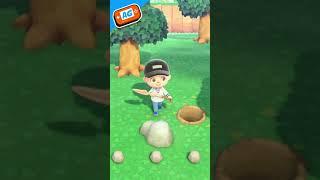 Como conseguir PEPITAS de HIERRO en Animal Crossing NEW Horizons #shorts