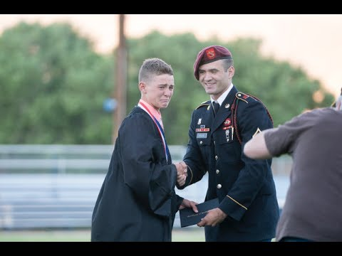 Soldier Surprises Brother At Graduation