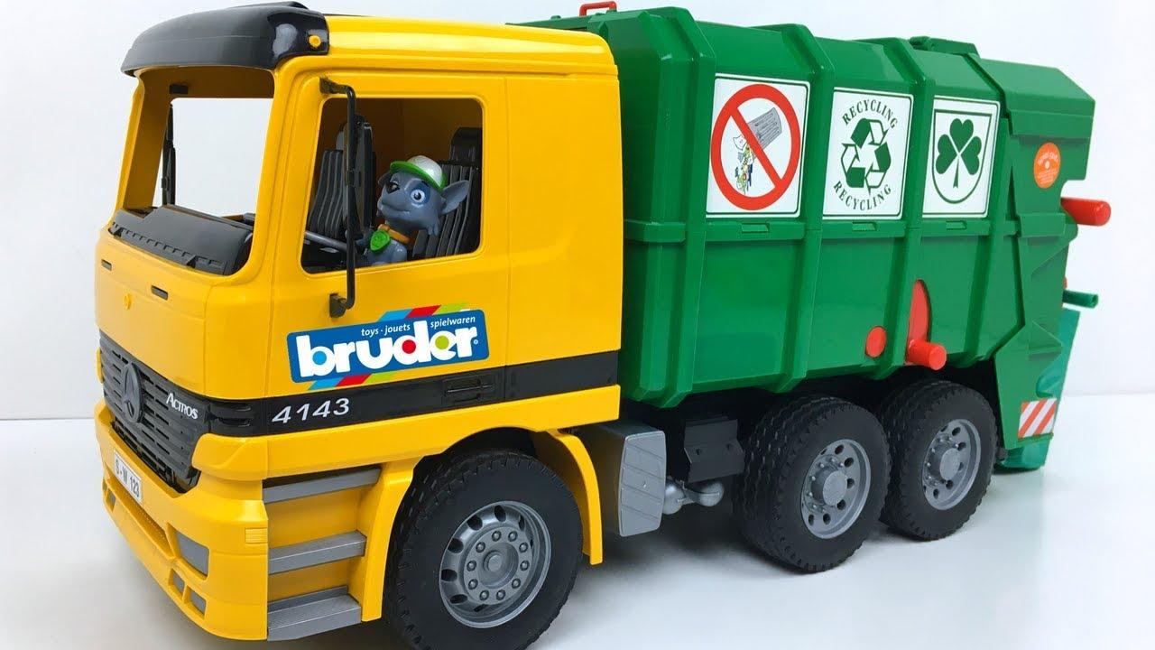 Para Ninos Bruder Trash Truck Juguete For Toy Basura Camion Garbage De Children f76ybg