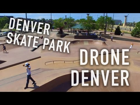 Drone Denver - Downtown Denver Skatepark