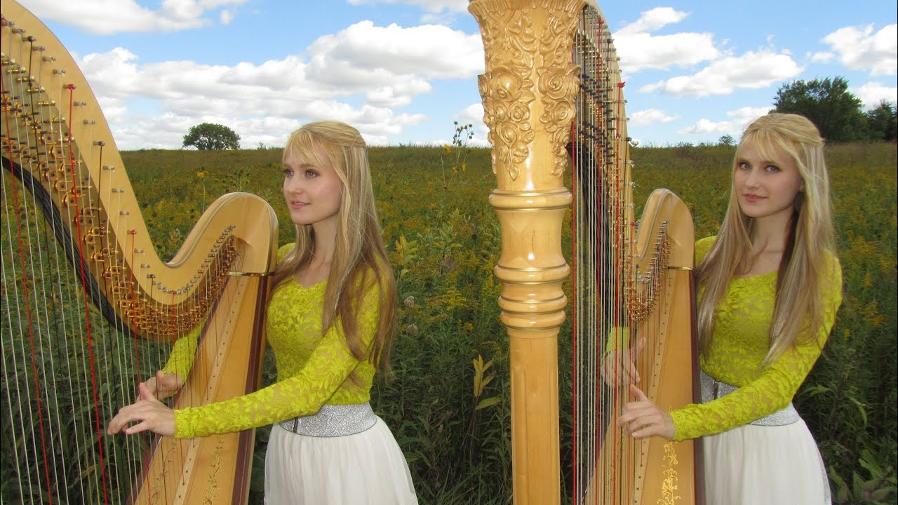 Buy A Harp >> AMAZING GRACE - Harp Twins - Camille and Kennerly - YouTube