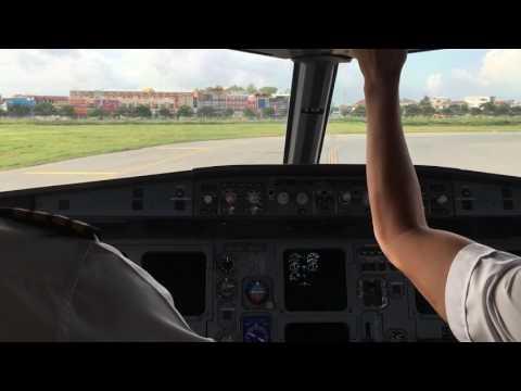 Flight from Guangzhou to Phnom Penh- LANDING - CAMBODIA Angkor Air  @Capt Khan Vanna