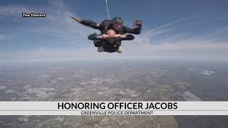 Chief Miller honors fallen officer Jacobs with a big jump